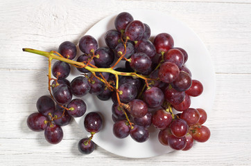 Grapes in plate