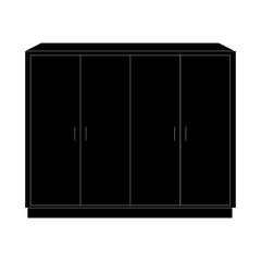 Furniture black icons. icon vector illustration