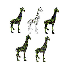 Giraffe camouflage set