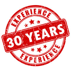 30 years experience rubber stamp
