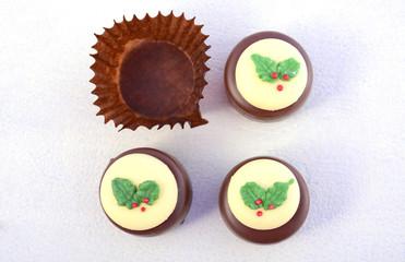 Festive Christmas holiday chocolates