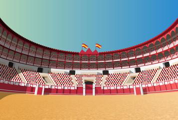 Spanish bullfight arena