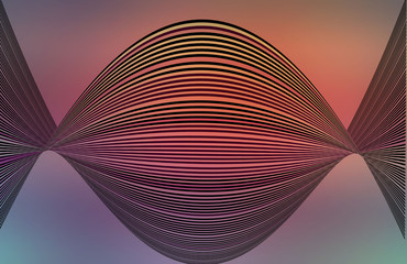 Curved lines colorful op art