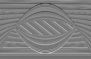 Curved lines black and white op art