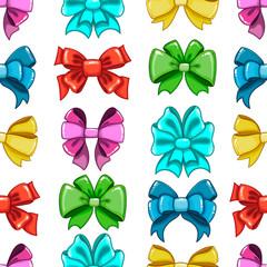 Seamless pattern cute cartoon bows-7