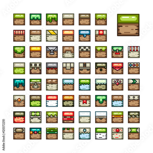 2D tilesets for video game