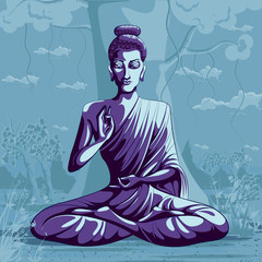 Indian God Buddha in meditation