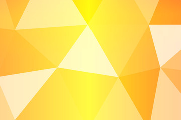 yellow, orange multicolor polygonal geometric banner with triangular low poly origami style background. vector illustration.