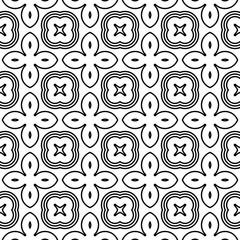 Design seamless monochrome flower pattern