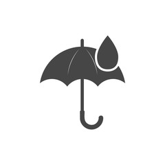 Umbrella sign icon. Water drop symbol