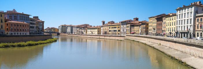 Pisa, Lungarno alleys. Color image