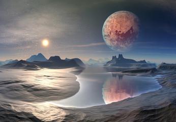 3d Rendered Fantasy Alien Planet - Illustration