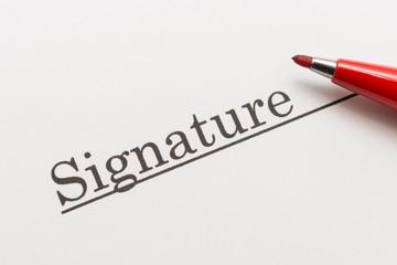 Signature サイン 署名