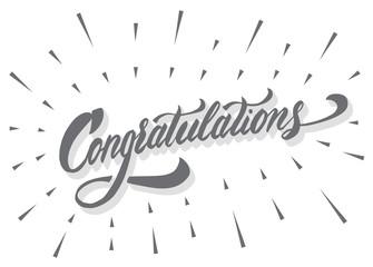 Congratulations calligraphic lettering