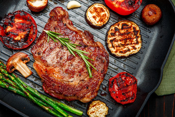 Roasted organic shin of beef meat