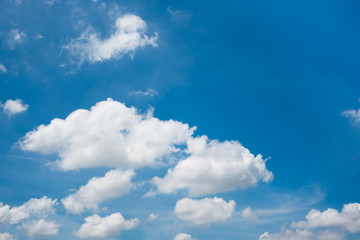 blue sky and cloud background.