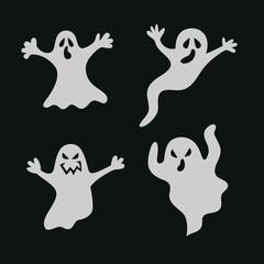 Set halloween ghosts.