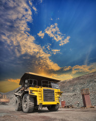 Mining truck on the opencast