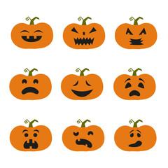 Halloween pumpkin icons.