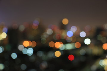 Abstract blurred bokeh city night light