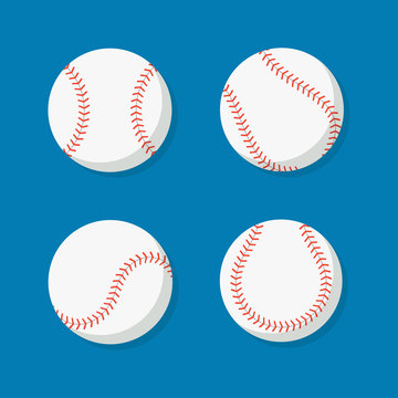 Baseball ball vector icon