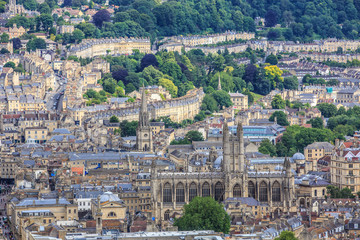 Bath City Panorama View