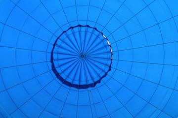 blue air balloon inside