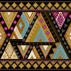 Ethnic geometrical pattern, tribal seamless, aztec design, mexican print