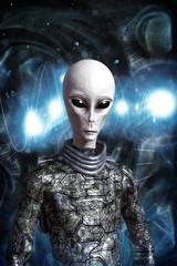 Wall Mural - alien being in space suit