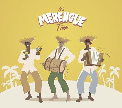 Three latin musicians playing latin music: merengue, salsa, mambo, bachata...