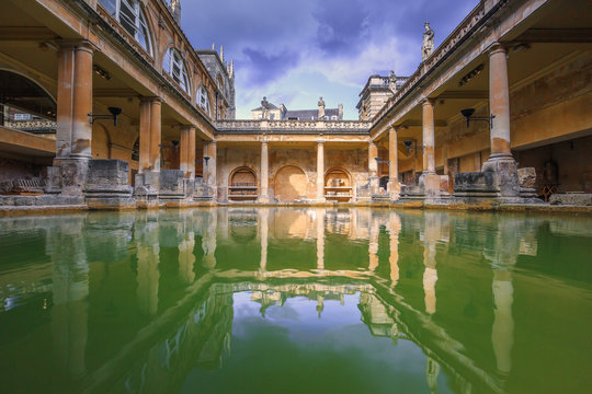 Roman Baths, the house is a well-preserved Roman site for public bathing.