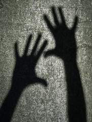 Two shadows hands