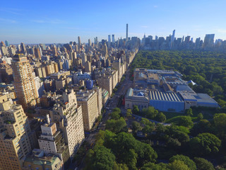 Aerial New York Central Park