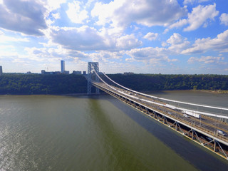 Aerial photo George Washington Bridge