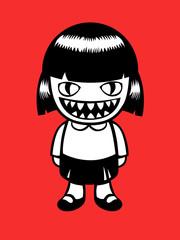 Monster doll. Vector illustration