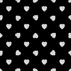 Hearts seamless pattern. Background design. Modern stylish abstract texture, Valentine's day print concept.Template for prints, textile, wrapping and decoration, invitation card. Vector illustration.