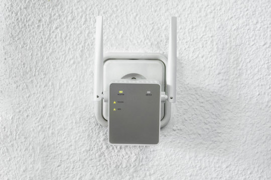 Detail of Wifi range extender
