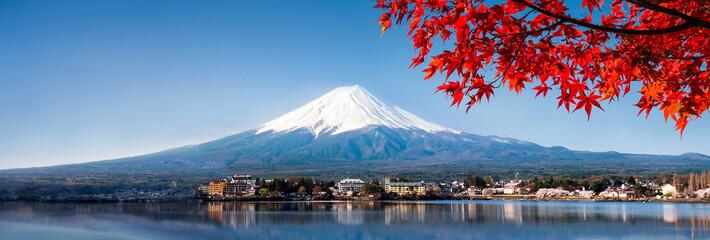Wall Mural - Berg Fuji Panorama im Herbst