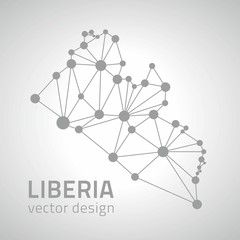 Liberia dot vector grey outline triangle map