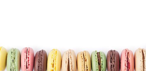 Poster Macarons Colorful macaroons. Sweet macarons