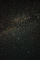 Night sky with many stars and milky way