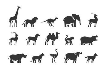 Animals vector icons set