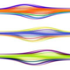 Bright color convex lines on white
