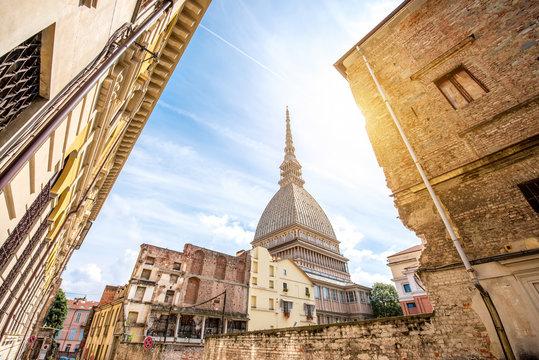 Mole Antonelliana museum building, the symbol of Turin city in Piedmont region in Italy