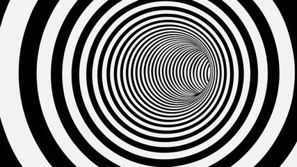 Czarno-biały Tunel 3D