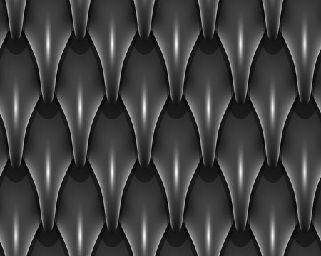 Black dragon scales seamless background texture