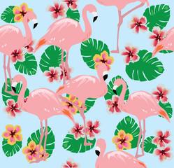 Vector Flamingo Birds