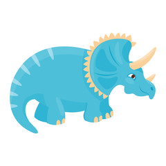 Cartoon dinosaur vector illustration.