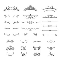 Set of vintage design elements