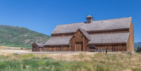 Front of a Mountain Barn